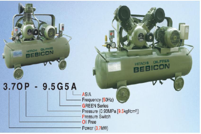 Cấu tạo đặc biệt của máy bơm hơi không dầu