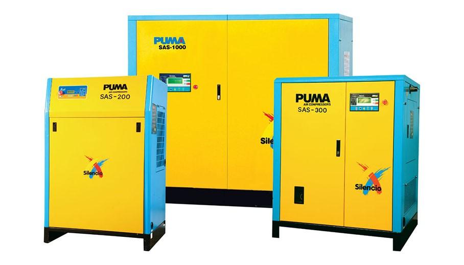 Máy bơm hơi hiệu Puma trục vít được áp dụng công nghệ cao trong sản xuất