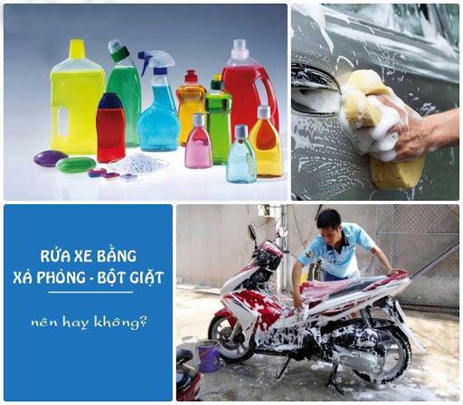 Sử dụng bột giặt rửa xe lợi hay hại?