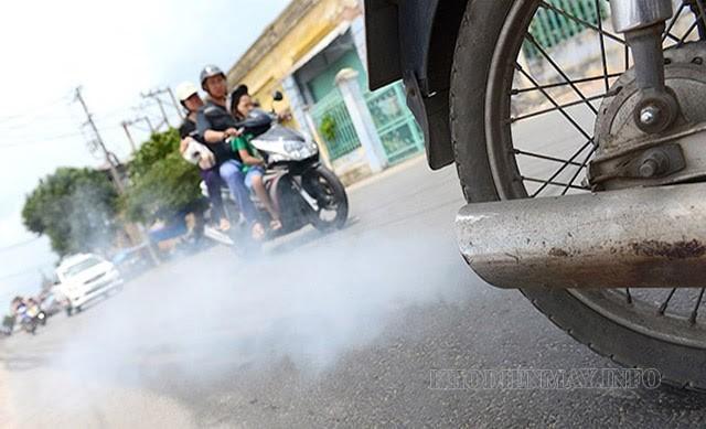 Khí thải xe máy là nguyên nhân gây ô nhiễm môi trường